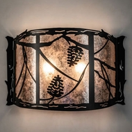 Meyda Tiffany 229135 Whispering Pines Black Sconce Lighting