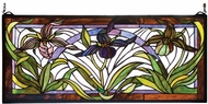 Meyda Tiffany 22928 Wildflowers Lady Slippers Stained Glass Panel