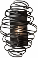 Meyda Tiffany 229531 Cyclone Contemporary Wrought Iron Light Sconce
