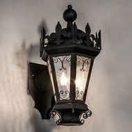 Meyda Tiffany 229698 Chaumont Traditional Black Exterior 26  Lamp Sconce