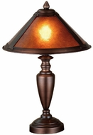 Meyda Tiffany 23028 Dirk Van Erp Small 1 Light Amber Mica Table Lighting Fixture