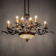 Meyda Tiffany 230421 Greenbriar Oak Traditional Copper 20  Chandelier Lamp