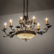 Meyda Tiffany 230422 Greenbriar Oak Traditional Copper 34  Chandelier Light