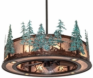 Meyda Tiffany 230672 Whispering Pines Vintage Copper and Oil Rubbed Bronze Drum Pendant Lighting Fixture