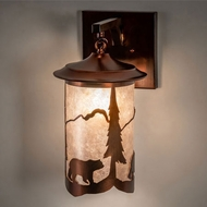 Meyda Tiffany 230734 Fulton Vintage Copper Wall Sconce Lighting