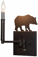Meyda Tiffany 231171 Lone Bear Mahogany Bronze Wall Swing Arm Lamp