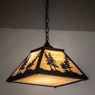 Meyda Tiffany 231202 Tall Pines Oil Rubbed Bronze Drop Ceiling Lighting