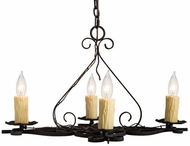 Meyda Tiffany 231446 Elianna Traditional Black Mini Hanging Chandelier