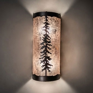 Meyda Tiffany 231470 Tall Pines Mahogany Bronze Wall Mounted Lamp