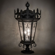 Meyda Tiffany 231586 Chaumont Traditional Black Outdoor Pier Lamp