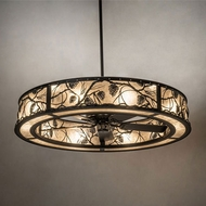 Meyda Tiffany 231601 Whispering Pines Black Drum Ceiling Light Pendant