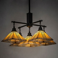 Meyda Tiffany 231650 Prairie Corn Craftsman Brown Lighting Chandelier