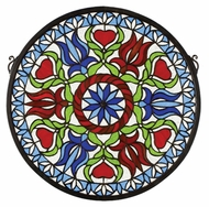 Meyda Tiffany 23284 Stained Glass Circle 17 Inch Diameter Tiffany Window Wall D�cor