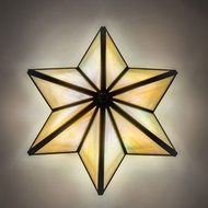 Meyda Tiffany 233309 Star Craftsman Brown LED Wall Sconce Light