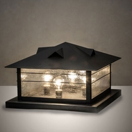Meyda Tiffany 233380 Arrowhead Black Outdoor Pier Lighting