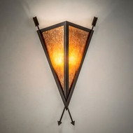 Meyda Tiffany 233675 Desert Arrow Contemporary Rust Sconce Lighting