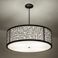 Meyda Tiffany 233735 Cilindro Modern Black Drum Pendant Light