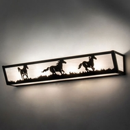 Meyda Tiffany 233820 Running Horses Black 30  Bath Lighting