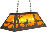 Meyda Tiffany 233927 Deer at Lake Country Oil Rubbed Bronze Kitchen Island Lighting
