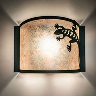 Meyda Tiffany 234794 Gecko Black Lighting Sconce