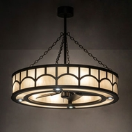 Meyda Tiffany 234989 Mission Oil Rubbed Bronze Drum Pendant Lamp