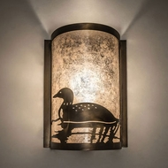 Meyda Tiffany 235600 Loon Antique Copper Wall Light Fixture