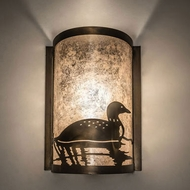 Meyda Tiffany 235602 Loon Antique Copper Lighting Wall Sconce