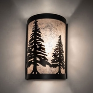 Meyda Tiffany 235698 Tall Pines Black Wall Lighting Sconce