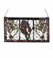 Meyda Tiffany 23818 Spring Triptych Stained Glass Window Wall D�cor - 25 Inches Wide
