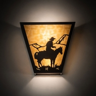 Meyda Tiffany 23955 Cowboy Timeless Bronze Wall Sconce