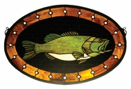 Meyda Tiffany 23970 Bass Plaque 22 Inch Wide Stained Glass Window Wall D�cor