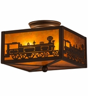 Meyda Tiffany 23985 Train Cafe Noir/Amber Mica Ceiling Lighting Fixture