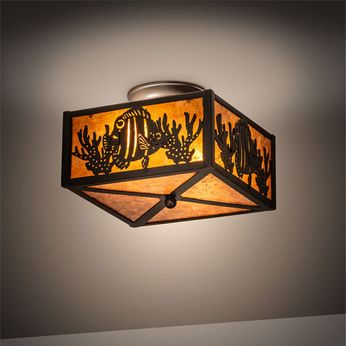 Meyda Tiffany 23992 Tropical Fish Mission Timeless Bronze Ceiling Lighting