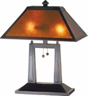 Meyda Tiffany 24216 Mission 1 Light Mica Desk Lighting Fixture