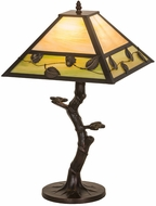 Meyda Tiffany 24246 Vine Leaf Tiffany Brown Table Light