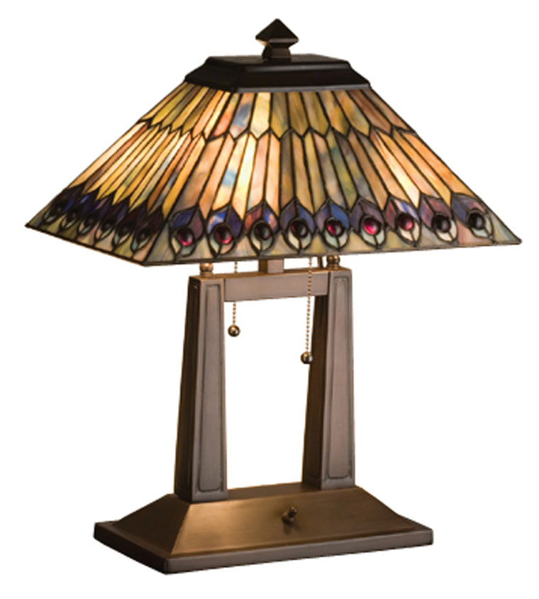 Meyda Tiffany 26300 Jeweled Pea 20 Inch Tall Lighting Table Lamp