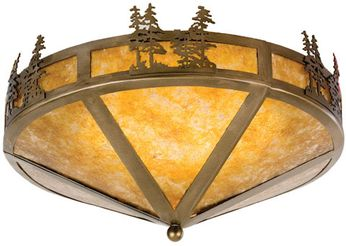 Meyda Tiffany 26388 Tall Pines Country Antique Copper Ceiling Lighting Fixture