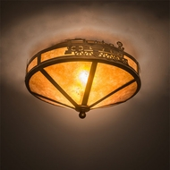 Meyda Tiffany 26391 Train Country Antique Copper Ceiling Lighting
