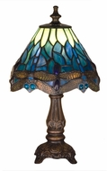 Meyda Tiffany 26597 Tiffany Hanginghead Dragonfly Tiffany Side Table Lamp