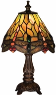 Meyda Tiffany 26613 Tiffany Hanginghead Dragonfly Tiffany Table Lamp