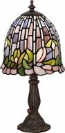 Meyda Tiffany 26647 Flowering Lotus Tiffany Pink Purple Blue Table Lamp Lighting