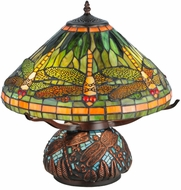 Meyda Tiffany 26681 Tiffany Dragonfly Tiffany Mahogany Bronze Table Lamp Lighting