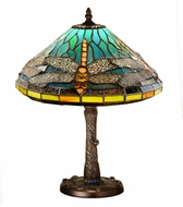 Meyda Tiffany 26683 Tiffany Dragonfly Tiffany Side Table Lamp