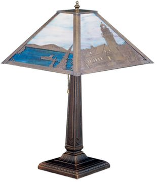 Meyda Tiffany 26763 Lighthouse Bay Rustic Table Light