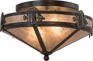 Meyda Tiffany 26877 Angel Fish Country Timeless Bronze / Silver Mica Ceiling Lighting Fixture