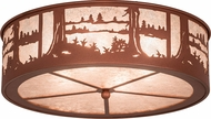Meyda Tiffany 26986 Quiet Pond Silver Mica Rust Ceiling Lighting