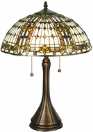 Meyda Tiffany 27031 Fleur-de-lis Tiffany Lighting Table Lamp