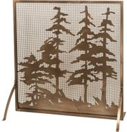 Meyda Tiffany 27047 Tall Pines Rustic Antique Copper Fireplace Screen