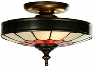 Meyda Tiffany 27056 Vincent Tiffany Craftsman Brown Overhead Lighting Fixture