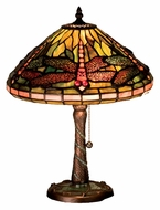 Meyda Tiffany 27158 Dragonfly Tiffany 16 Inch Tall Table Light With Bronze Twisted Base
